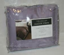 Charter Club Damask Stripe Full Queen Duvet Cover ORCHID lavender purple solid