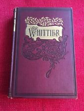 Antique POEMS By John G Whittier By William L Allison Co Henry Stanton Volume