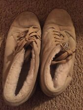 USED Vans Sneakers Men Size 9 Beige Shoes Rare Skateboarding Feet Suede