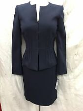 TAHARI BY ARTHUR LEVINE SKIRT SUIT/SIZE 4/RETAIL$280/NAVY/LINED/NEW WITH TAG