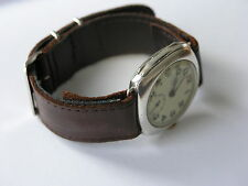 20mm Brown Leather WW2 / 50's Style Military Strap / Band - Open Ended