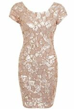 MISS SELFRIDGE BEADED EMBELLISHED DRESS~HEXAGONAL MOSIAC~SIZE 10~RRP £150