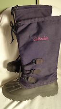 Cabela's Black Nylon & Rubber Boots, Removable Liners, Womens 6