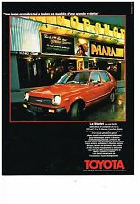 PUBLICITE ADVERTISING  054  1978  TOYOTA  la STARLET   BERLINE