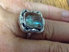 Vintage Whiting And Davis 15x13mm Saphiret Adjustable Ring