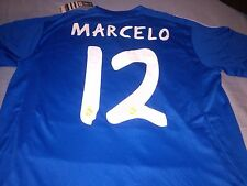Real Madrid 2013-14 Away Blue Soccer Football Jersey Di Maria Benzema Marcelo