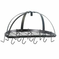 Pots Pans Hanger Bronze Half Round Kitchen Storage Organizer Wall Mount Pot Rack