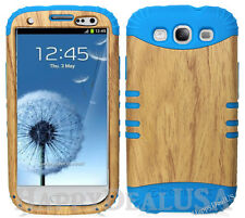 KoolKase Hybrid Silicone Cover Case for Samsung Galaxy S3 i9300 - Light Wood