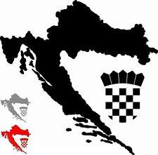 Croacia Pegatina Hrvatska con escudo Croacia ROJO , PLATA o negro