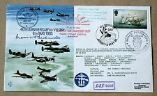 VE DAY 40TH ANNIVERSARY 1985 COVER SIGNED BY WW2 HEAD OF SOE MAURICE BUCKMASTER