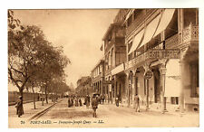 Francois Joseph Quay - Port Said Photo Postcard c1910