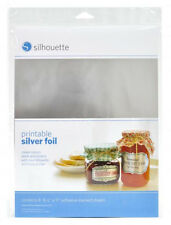 SILHOUETTE - Printable Silver Foil adhesive-backed sheets