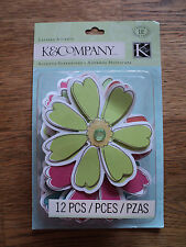K & CO ISABELLA GRACE FLOWER LAYERED ACCENTS BNIP