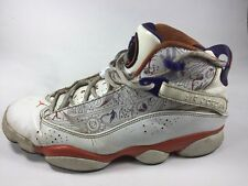 Nike Air Jordan Six 6 Rings White / Orange  Size 10.5 Limited Release 322992-101