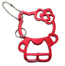 New Sanrio HELLO KITTY Metal Keychain - Key Ring cellphone pendant # Red