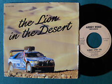 "THE LION IN THE DESERT by LORD AND CO - 7"" PROMO PEUGEOT 405 ABBEY ROAD records"