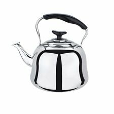 Stainless Steel Whistling Teakettle Teapot Cookware Silver Tone 4L
