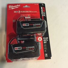 Genuine Milwaukee M18 XC 5 amp 18V Red Lithium Battery 48-11-1852 lot of(2)NEW