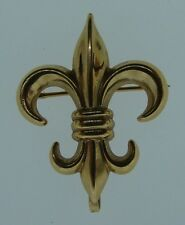 CHIC 14k Yellow Gold Fleur De Lis Pendant/Brooch Circa 1900s Marked C A