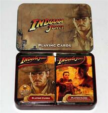 INDIANA JONES MOVIES Harrison Ford Two Decks PLAYING CARDS SET with TIN BOX New