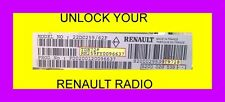 RENAULT RADIO CODE  ALL MODELS 24 HOURS A DAY  7 DAYS A WEEK