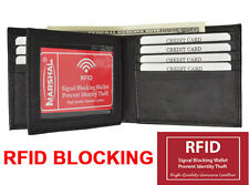 RFID Blocking Safe Men's Bifold Card Id Credit  Leather Center Flap Wallet New!