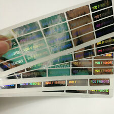 100PCS Hologram Security Warranty Void if Removed Sticker Label