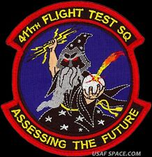 USAF 411th FLIGHT TEST SQ - ASSESSING THE FUTURE-ORIGINAL AIR FORCE MORALE PATCH