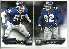 Lawrence Taylor & Michael Strahan 2015 Playbook N Y Giants Insert Card  #106/299