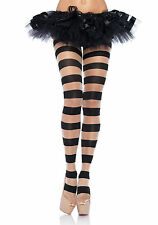 Leg Avenue sheer OPAQUE STRIPED pantyhose rockabilly punk