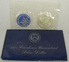 1971-S Eisenhower Uncirculated 40% Silver Dollar Coin