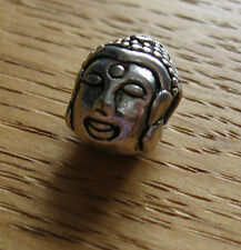 Individual Buddha Head Tibetan Silver hair braid dread beads 4.5mm hole approx