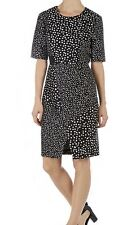 Whistles Black  Shift Dress Size 14 Black & White Paid £175 New With Tags