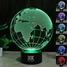 Europa Erde 3D LED Tischleuchte Tischlampe Nachttischlampe Leselampe Leuchte
