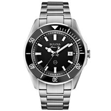 Bulova 98B203 Mens Marine Star Silver Steel Bracelet Watch RRP £249