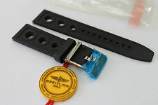 100% Genuine New Breitling Black Caoutchouc Ocean Racer Tang Buckle Strap 22-20m