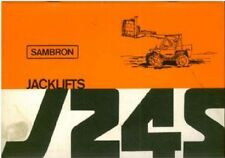 Sambron Jacklift J24S Operators Manual with Parts List - Telescopic Handler Lift