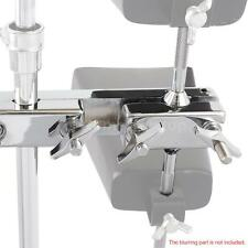 Professional Clamp Holder Bracket Rod for Cowbell Accessory Metal Silver T7Z6