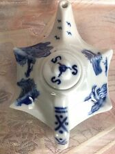 Antique Chinese Blue Tea Pot Mini