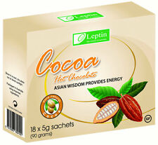 6 Box's  Leptin Cocoa Hot Chocolate Natural slimming drink 18 Sachets per Box