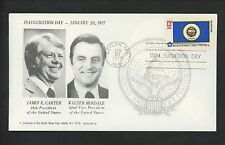 US Inauguration Day FDC James E Carter 1/20/1977 Artcraft / Hazlet S C JEC-NONE