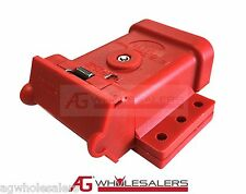 RED ANDERSON PLUG MOUNTING KIT 50A  MOUNT COVER DUST CAP EXTERNAL TRAILER