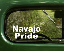 2 NAVAJO PRIDE STICKERs Native American Decal for Car Truck Laptop Window Bumper