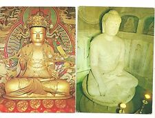 South korea buddha postcards unused 5 different azoo sightseeing co.