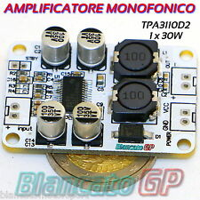MODULO AMPLIFICATORE AUDIO MONO DIGITALE 30W 4Ω TPA3110 PBTL CLASSE D
