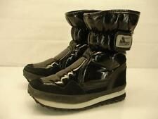 womens 6.5 37 Rubber Duck Snowjoggers black winter boots fleece lined waterproof