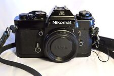 Nikon Nikomat EL 35mm SLR Film Camera Body Only (with dented prism finder) Works