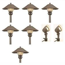 Hampton Bay Low-Voltage Bronze Outdoor Integrated LED Light Kit (8-Pack)