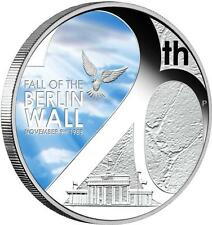"""2009 Tuvalu """"FALL OF THE BERLIN WALL"""" PROOF .999 SILVER  Mint BOX - 5,000 made"""