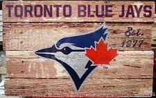 "TORONTO BLUE JAYS EST 1977 WOOD FENCE SIGN 19""X30'' BRAND NEW WINCRAFT"